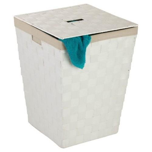 Honey-Can-Do Paper Rope Hamper; White