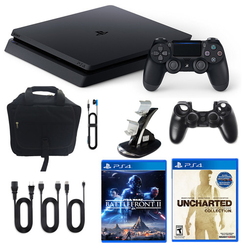 Sony PlayStation 4 1TB Limited Edition Star Wars Console with Nathan Drake Game and Accessories