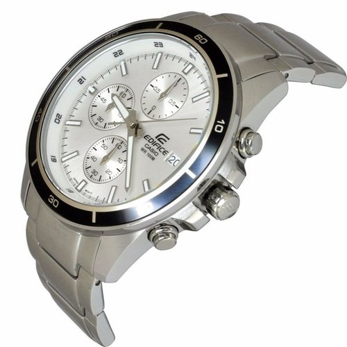 Casio Men's EFR526D-7A Edifice White Watch