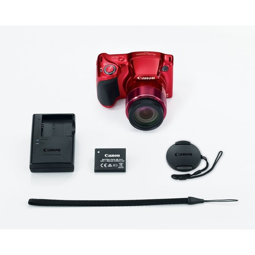 Canon PowerShot SX420 IS 20MP 42x Zoom Camera Kit (Red)