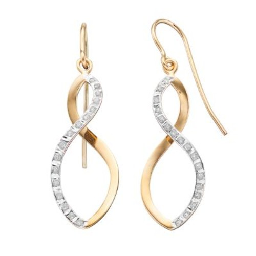 Diamond Mystique Sterling Silver Infinity Drop Earrings