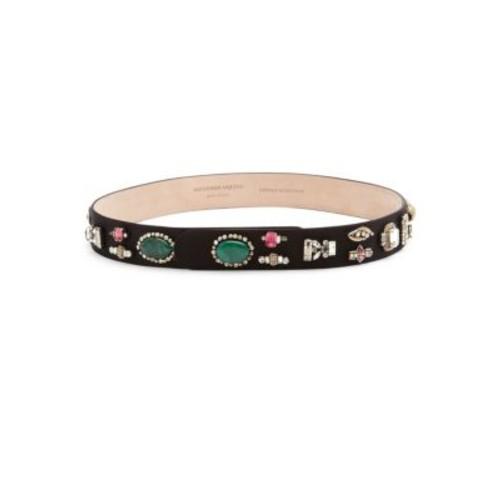 ALEXANDER MCQUEEN Embellished Snap Belt