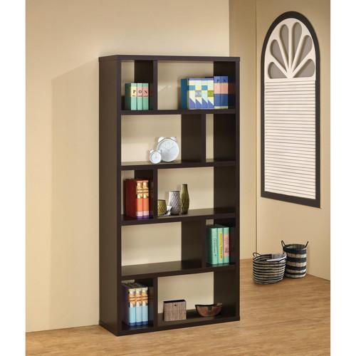 Venetian Worldwide Loyer Bookcase in Cappuccino Finish