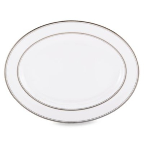 kate spade new york Library Lane Platinum 16-Inch Oval Platter