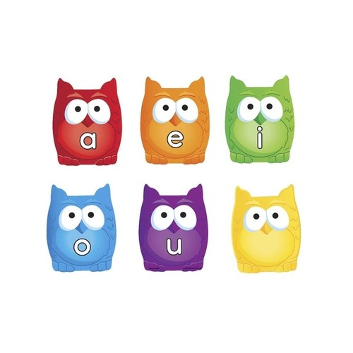 Learning Resources Vowel Owls, Grades PreK and above, Set of 6