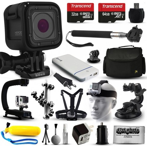 GoPro HERO5 Session Action Camera with 96GB + 17 Piece Accessories Bundle Kit