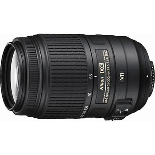 Nikon AF-S DX Nikkor 55-300mm f/4.5-5.6G ED VR Telephoto zoom lens for DX format Nikon DSLR cameras