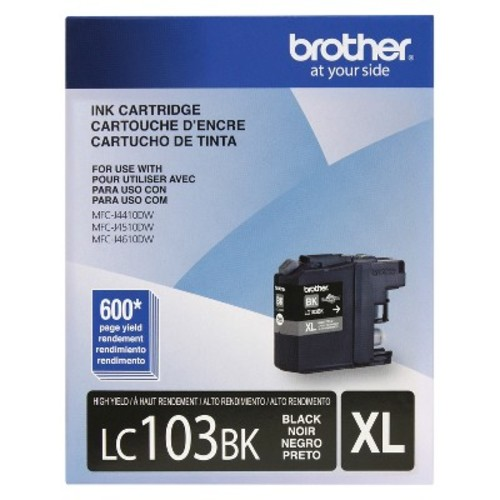 Brother High Yield Color Ink Cartridge - Black (LC103BKC)