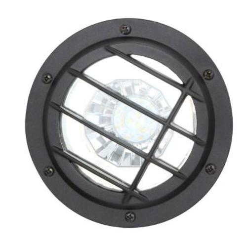 Hampton Bay Low-Voltage LED Black Well Light