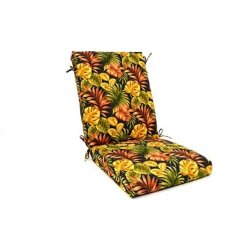 Wildon Home Tropical Floral High Back Outdoor Lounge Chair Cushion