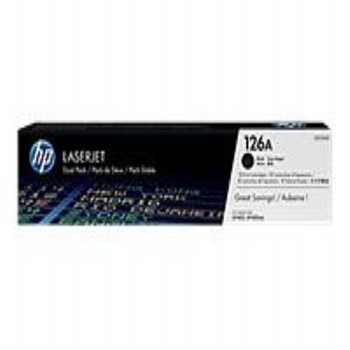 HP 126A Dual Pack - CE310AD - toner cartridge - 2 x black - 1200 pages - for Color LaserJet Pro CP1025, CP1025nw; LaserJet Pro 100 M175NW; TopShot LaserJet Pro