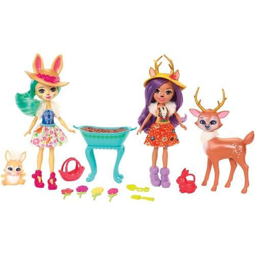Enchantimals Garden Magic Bree Bunny Doll & Danessa Deer Doll Set