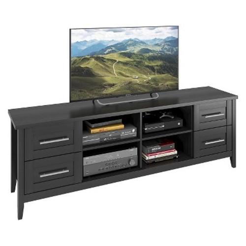 Jackson Extra Wide Drawer TV Bench Black 80