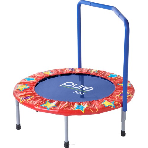 Pure Fun 36 Kids Trampoline with Handrail