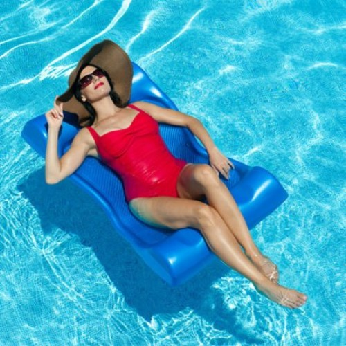 Aquaria Aqua Hammock Swimming Pool Float - Blue