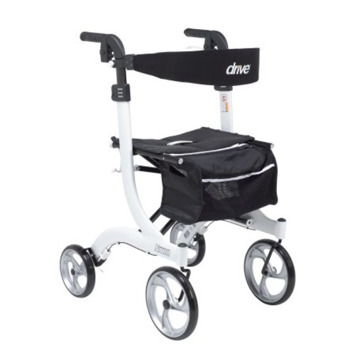 Drive Medical Nitro Euro Style Walker Rollator, Tall, White