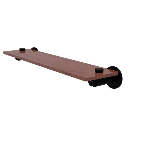 Allied Brass Tribecca Collection 22 in. Solid IPE Ironwood Shelf in Matte Black