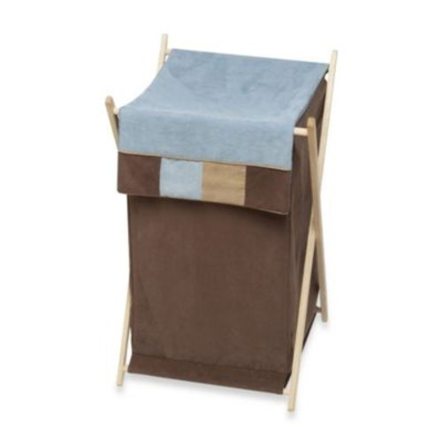 Sweet Jojo Designs Soho Laundry Hamper in Blue/Brown