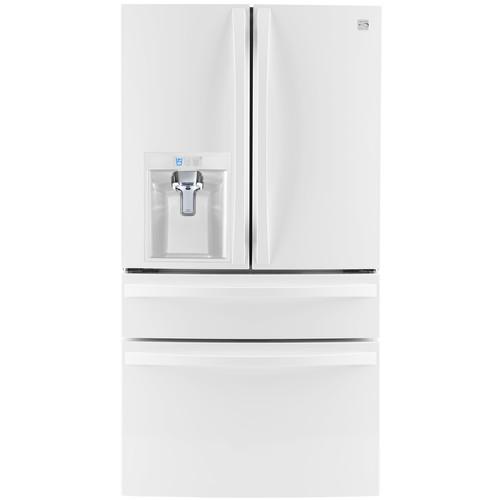 Kenmore Elite 72482 29.9 cu.ft. 4-Door Bottom-Freezer Refrigerator w/Dispenser - White