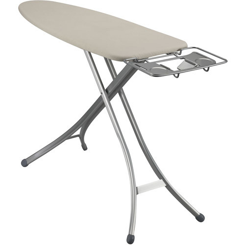 Household Essentials Mega Top 4-Leg Aluminum Ironing Board with Natural Cotton Cover