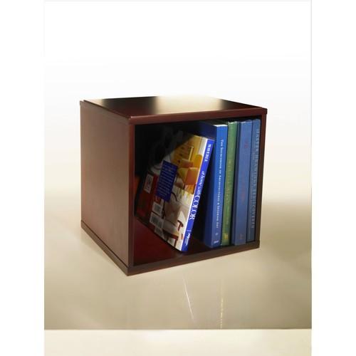 Empire Stack & Style Wood Desk Organizers Storage Cube, Mahogany