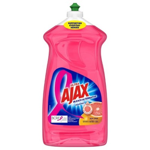 Ajax Bleach Alternative Dish Liquid, Grapefruit, 52 Fluid Ounce (Pack of 6)