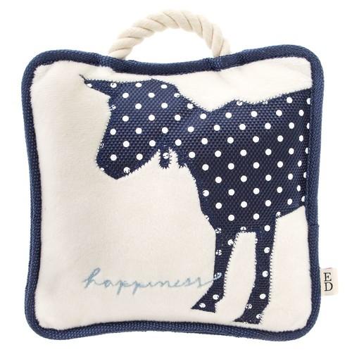 ED Ellen DeGeneres Goat Happiness Pillow Dog Toy - Plush, Rope, Squeaker