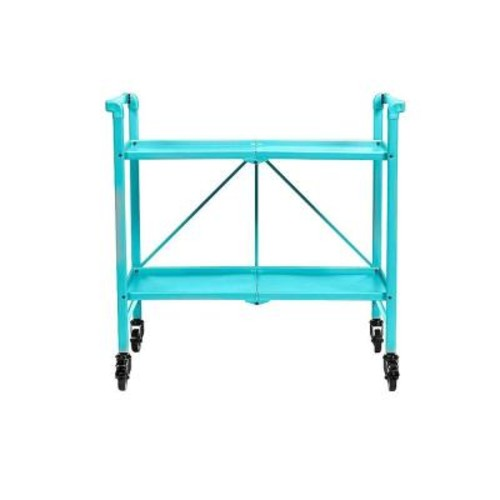Cosco Smartfold Teal Serving Cart
