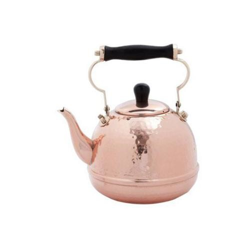 Dutch 852 2 Qt. Solid Copper Hamm. Tea Kettle with Wood Handle - RPL num. 552