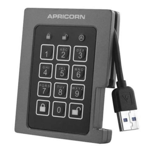 Apricorn Aegis Padlock 480GB 640 Mbps USB 3.0 Solid State Drive, Black/Gray (ASSD-3PL256-480F)