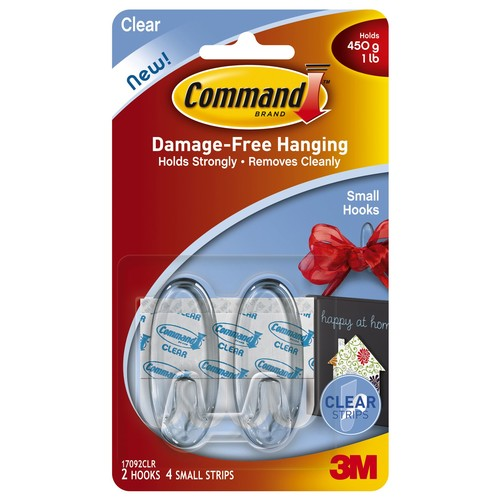 CommandTM Small Hooks - Clear