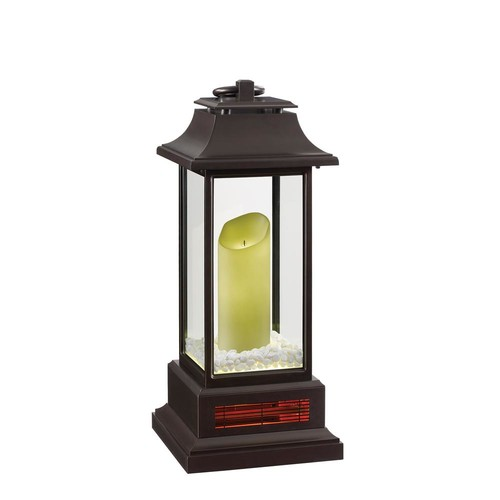 Duraflame 1500-Watt 28 in. Infrared Electric Portable Heater Lantern with Remote Control and LED Flameless Candle