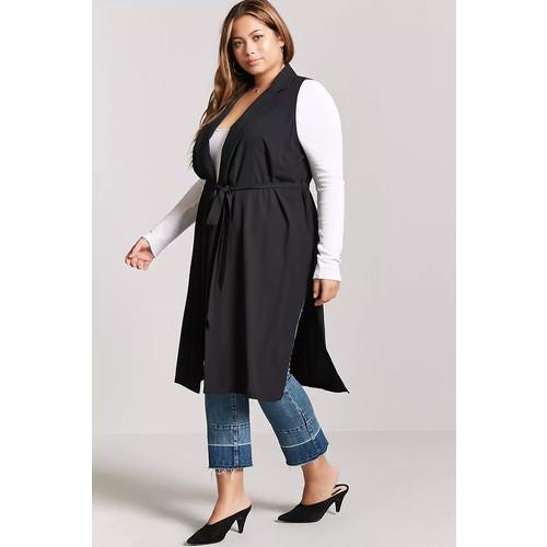 Plus Size Longline Vest