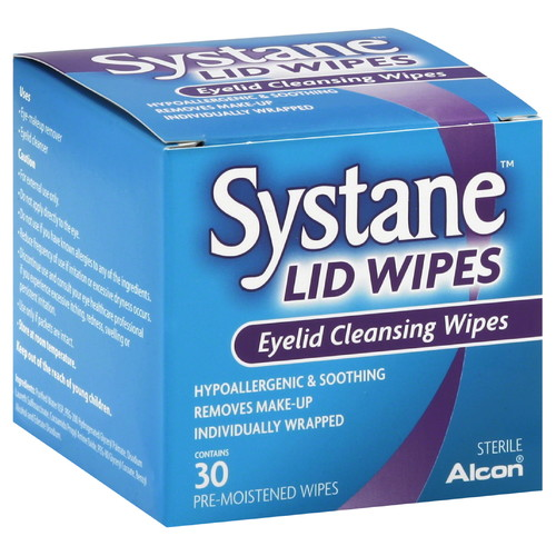 Systane Eyelid Wipes, Pre-Moistened, 30 wipes