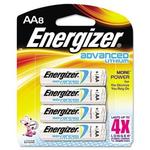 Energizer Advanced Lithium Batteries, AA Size, 8-Count [AA, 8]