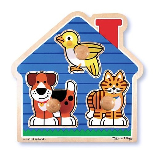 Melissa & Doug 2055 Pet Animals Knob Wooden Puzzle [Pet Animals]
