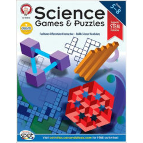 Science Games and Puzzles, Grades 5-8