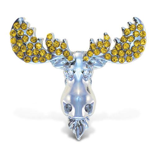 Puzzled Inc. Crystal-embellished Sparkling Moose Refrigerator Magnet