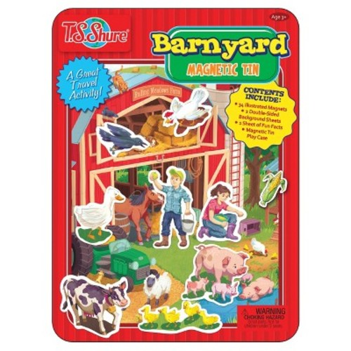 T.S. Shure Barnyard Friends Magnetic Tin Playset