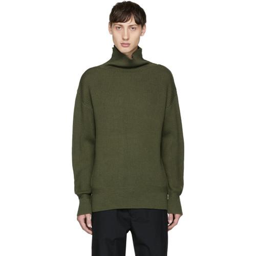 RAG & BONE Green Andrew Funnel Neck Sweater