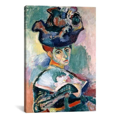 iCanvas Henri Matisse 'Woman in a Hat (1905)' Canvas Print Wall Art