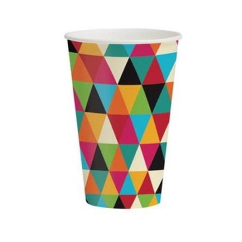 Creative Converting 375980 12 Oz. Birthday Kraft Hot & Cold Cups - Case of 96