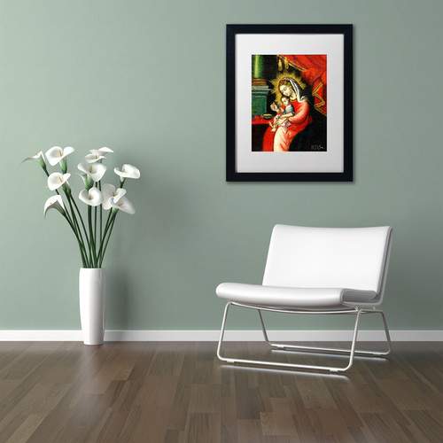 Sergio Cruze 'The Virgin and Son I' Matted Framed Art