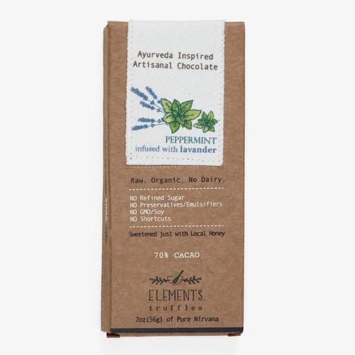 Elements Truffles Chocolate Bar Peppermint Lavender