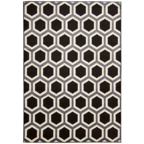 Nourison Nova Black/White 7 ft. 10 in. x 10 ft. 6 in. Area Rug