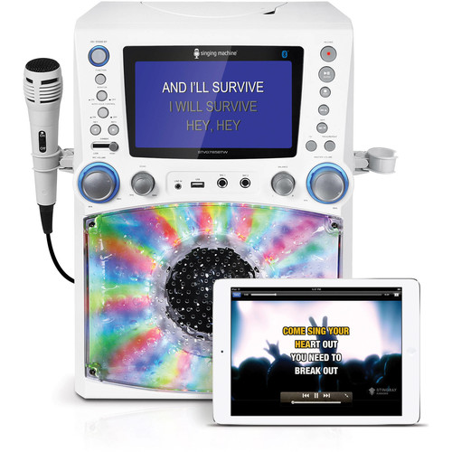 Singing Machine STVG785BTW Bluetooth Karaoke System with 7