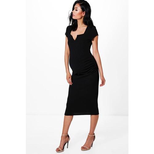 Maternity Lexi Tailored Cap Sleeved Midi Dress