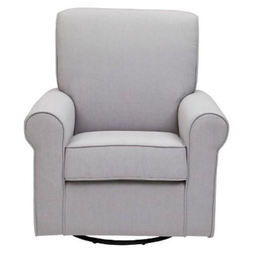 Delta Children Avery Nursery Glider Swivel Rocker Chair  Gray