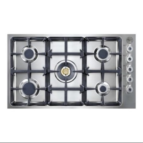 Bertazzoni Professional Series QB36500X 36 Gas Cooktop, 5 Sealed Burners, 18,000 BTU Brass Burner