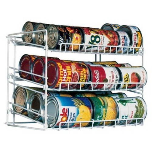 Atlantic Kitchen Storage Can Rack - White
